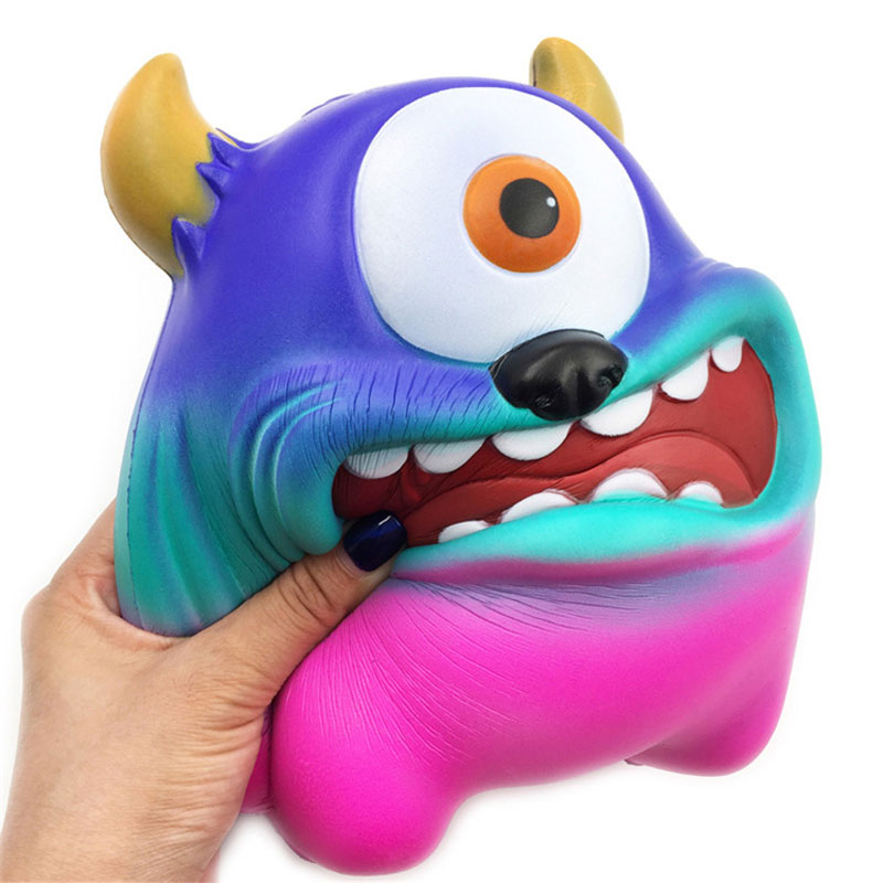 Funny Jumbo Monsters  Squishy  PU Toy Slow Rising Squeeze Doll Stress Reliever Light 7.8