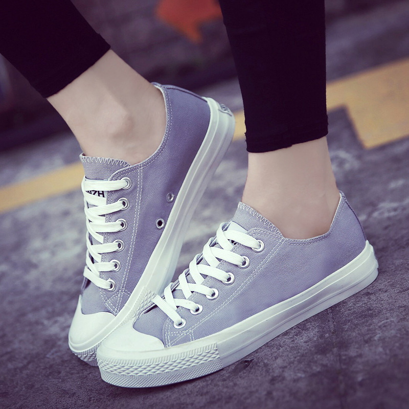 Ashion 2017 New Summer Women Shoes Korean Version Trend College Colorful Canvas Shoes Comfort Wild Shoes Casual Flat Shoes