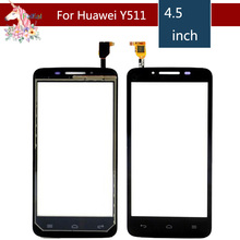 4.5 For Huawei Ascend Y511 LCD Touch Screen Digitizer Sensor Outer Glass Lens Panel Replacement 5 0 for zte blade a315 lcd touch screen digitizer sensor outer glass lens panel replacement