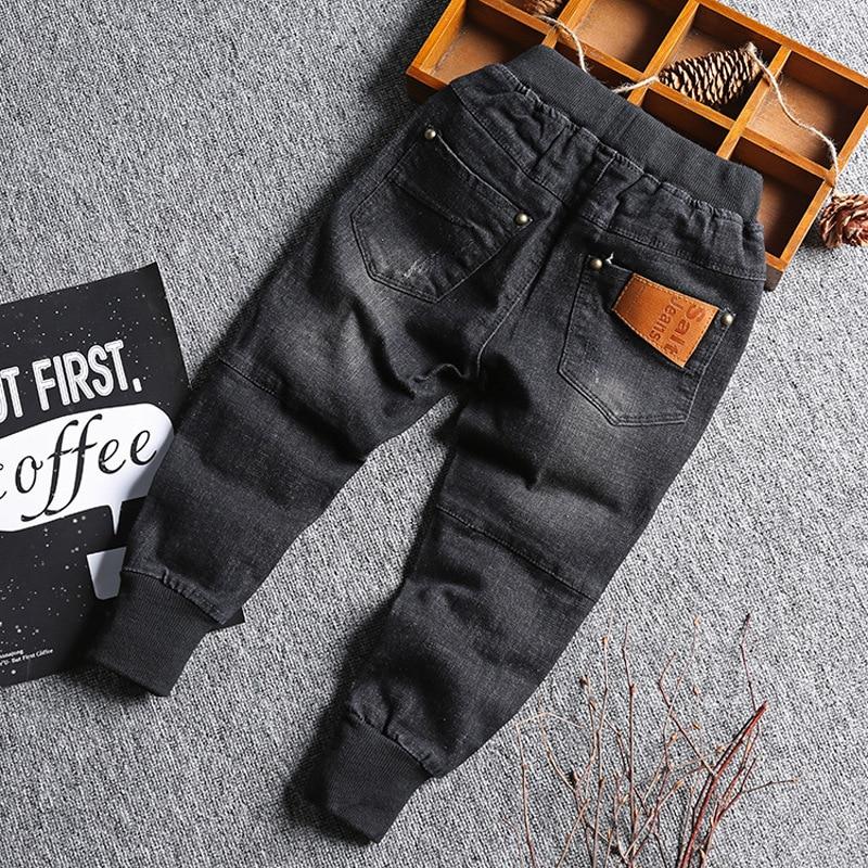 Baby Boy Denim Jeans Pants Spring Fall Children's Denim Trousers Kids Black Designed Pants Solid Toddler Leggings 2-8 Years