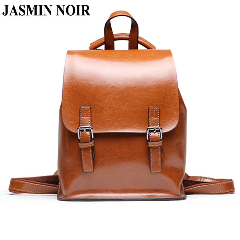 New Women Genuine Leather Backpack Famous Brand School Bags Designer Cowhide High Quality Daypack Ladies Tote Female Travel Bag