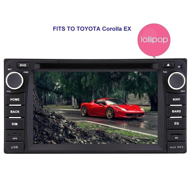 2 Din Android 5 1 1 Car DVD Radio Player for Toyota Corolla Car GPS Head Unit