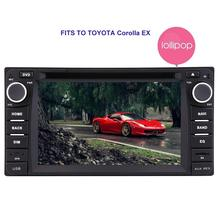 For Toyota Corolla Android 5.1 Auto Car Radio Stereo Double Din Head Unit GPS Navigation Bluetooth WIFI Mirror Link CAM-IN SWC