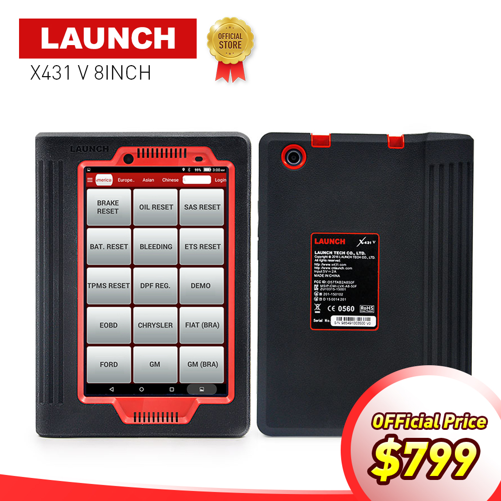 LAUNCH X431 V 8'' inch Global version auto OBD2 Full system diagnostic Scanner 2 years free update X-431 V Bluetooth/Wifi tool launch scanner x431 creader v obd2 diagnostic obd 16pin multi functions fault code scanner launch auto diagnostic scanner