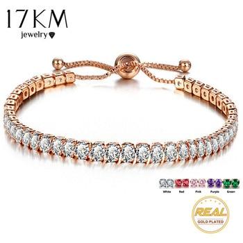 Cubic Zirconia Tennis Bracelet & Bangle Adjustable Pulseras Mujer Charm Bracelet