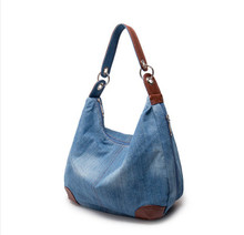 Large Luxury Handbags New Women Bag Designer Ladies Hand bags Big Purses Jean Denim Tote Shoulder Crossbody Women Messenger Bag