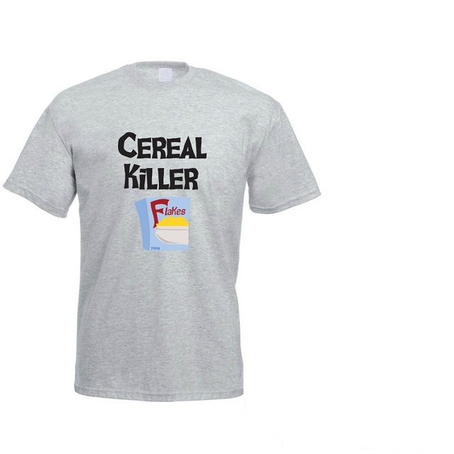 49eef8278 Offensive T Shirts O-Neck Short Sleeve Cereal Killer - Breakfast Graphic Mens  T Shirts
