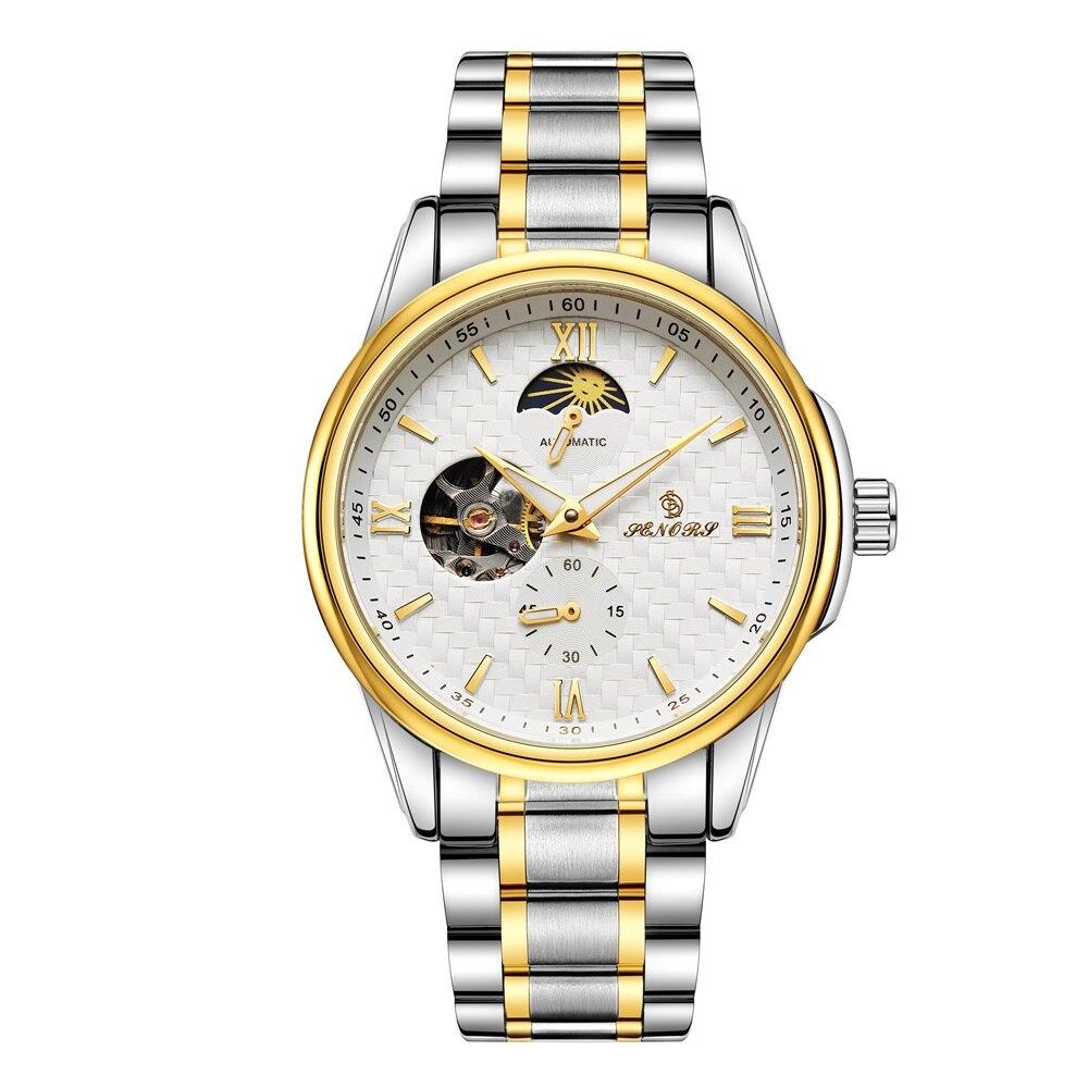 SENORS Mechanical Watch men's watch Automatic Waterproof Sport Male Clock Top Brand Luxury Fashion Relogio Masculino 018 senors серебряный