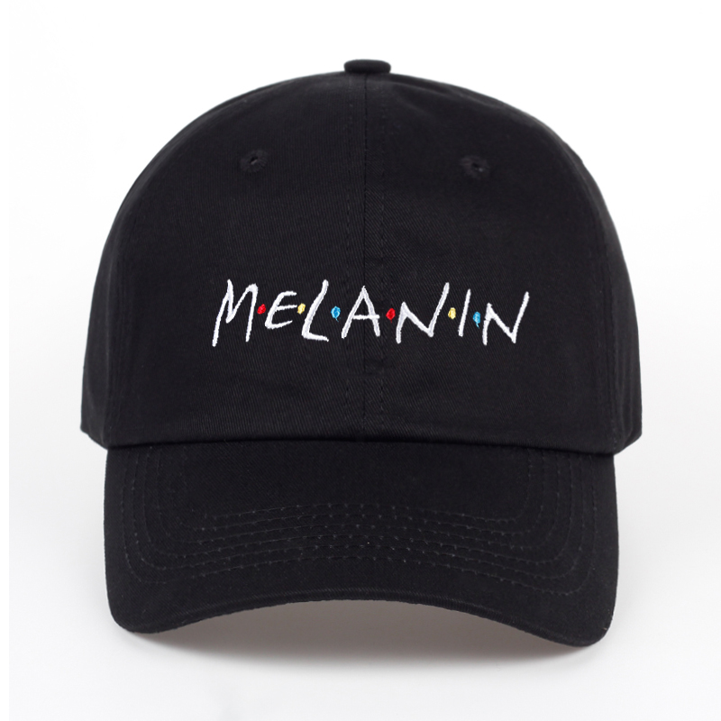 2017 new arrival MELANIN letter embroidery baseball cap women snapback hat adjustable men fashion Dad hats wholesale