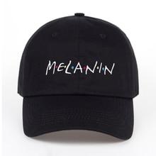 Černá pánská Melanin čepice s kšiltem s nápisem