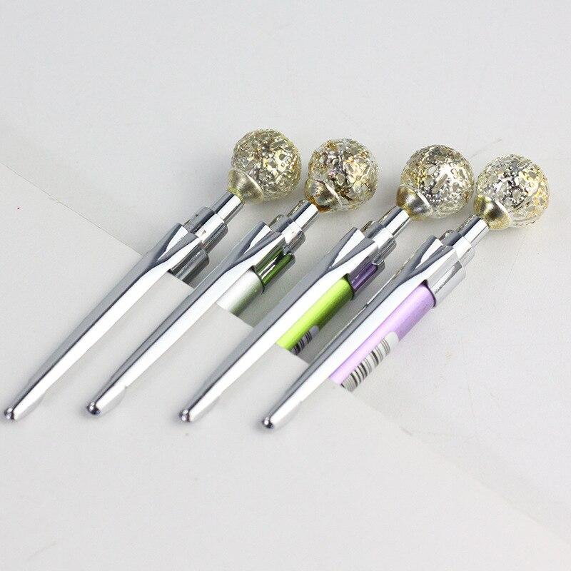 0 5 0 7mm Fashion Metal Mechanical Pencil Colorful Gem Decoration Automatic Pencils For Student Writing Drafting Pen Stationery in Mechanical Pencils from Office School Supplies