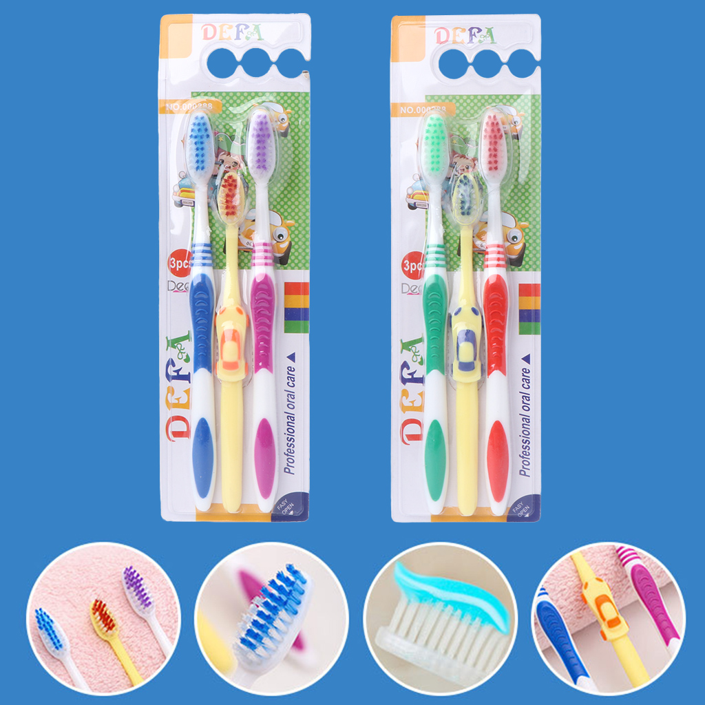 3Pcs Family Toothbrush Travel Brush Tooth Baby Tooth Brushes Adults Tooth Brush 2018 New