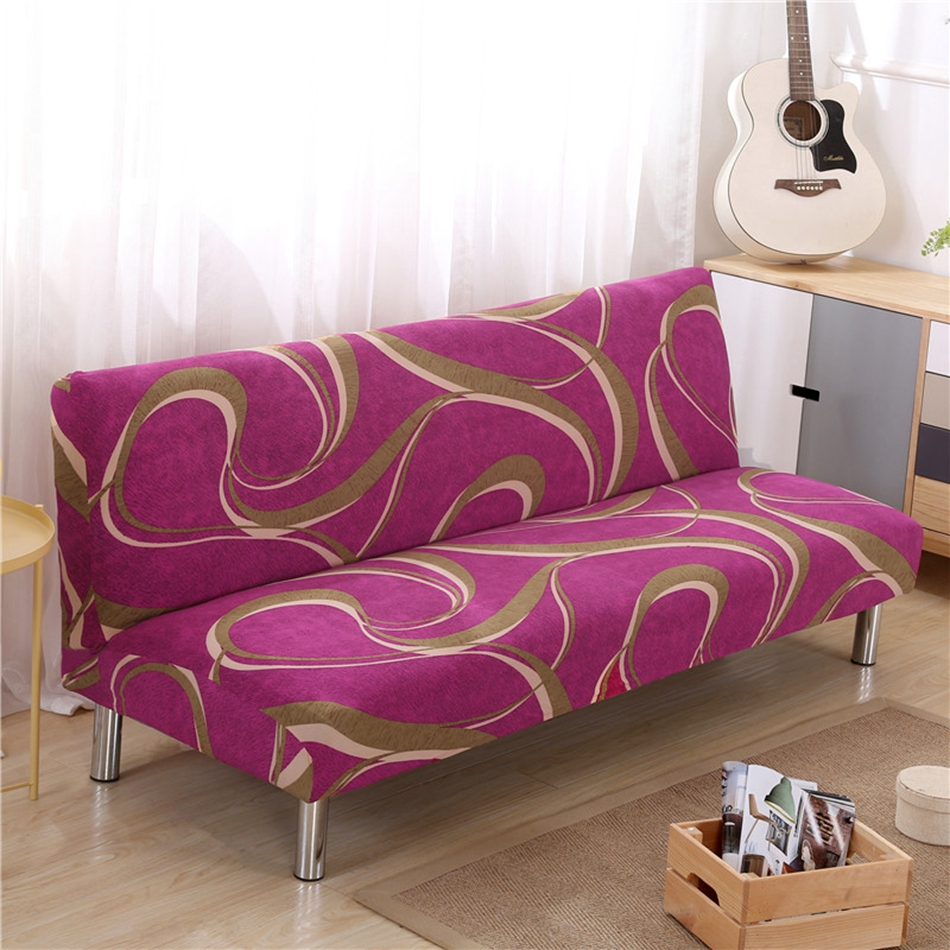stylish sofa arm covers | Modern Red Stripes Universal Stretch Sofa Covers For ...