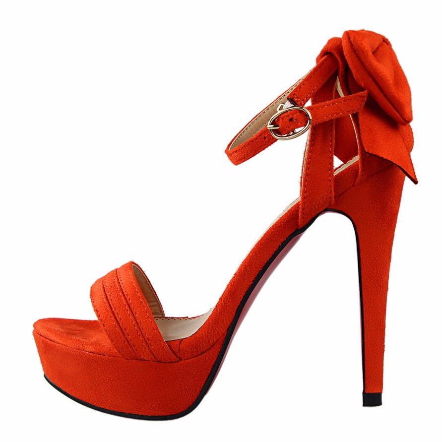 e2d949599136 ... Girl Wedding Bridal Evening Party High Heels Shoes Tacones Mujer.  orange pink