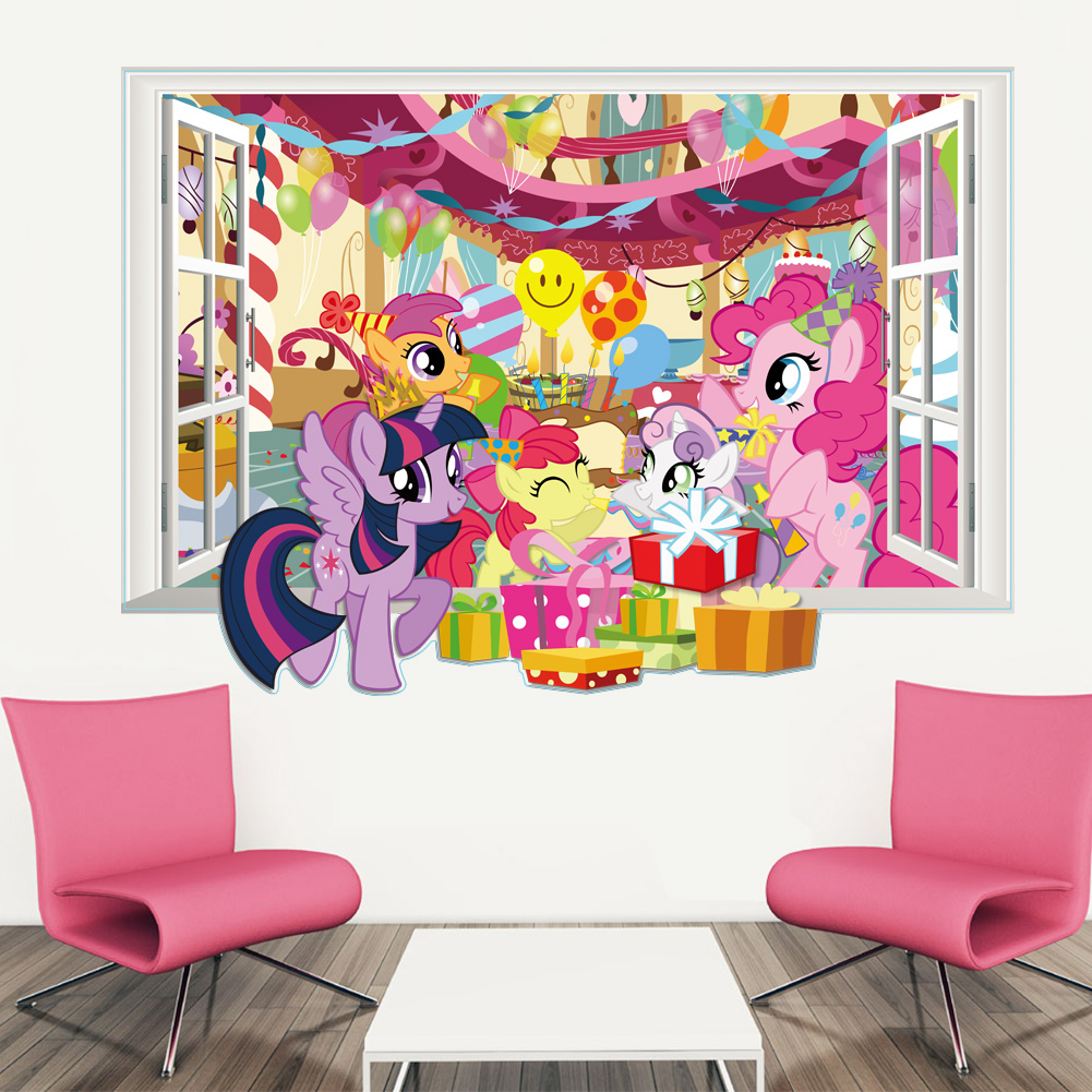 Wallpaper Murals My Little Pony Mlp Rainbow Dash Removable 3d Window