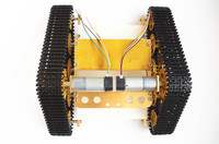 Official DOIT Metal Robot Tank Chassis Diy Smart Tracked Robotic Car With Plastic Track Rail And