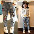 New spring Girls jeans kids clothing,children jeans Kids jeans ,fashion jeans ,children graffiti casual pants 3-8Y