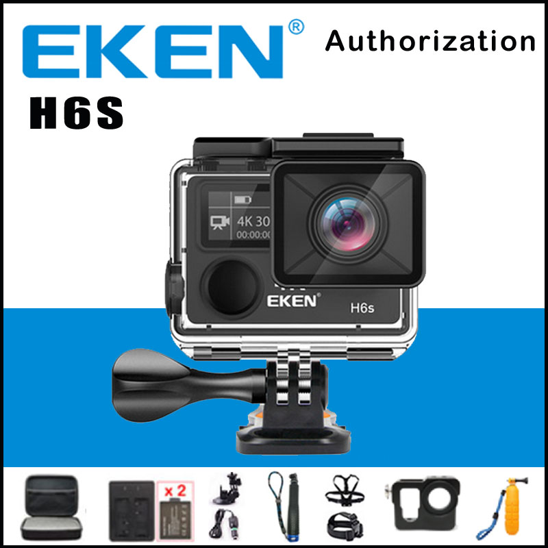 EKEN H6S Ambarella A12 WIFI 4K 30FPS Action Camera 14MP EIS Image Stabilization 30M waterproof 170 degree 1080p sport cam eken h6s a12 ultra 4k 30fps wifi action camera 30m waterproof 1080p go eis image stabilization ambarella 14mp pro sport cam