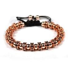 2017 новый анил arjandas браслет человек micro pave черный cz пробки бисер плетение макраме браслет женщины ювелирные изделия
