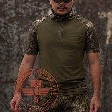 Тактический Военная Униформа футболка Для мужчин футболка с короткими рукавами влагу майка питон камуфляж футболки M-XXL