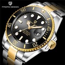PAGANI2019 Design Brand Luxury Men Watches Automatic Black
