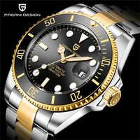 PAGANI2019 Design marque de luxe hommes montres automatique montre noire hommes en acier inoxydable étanche Sport d'affaires mécanique