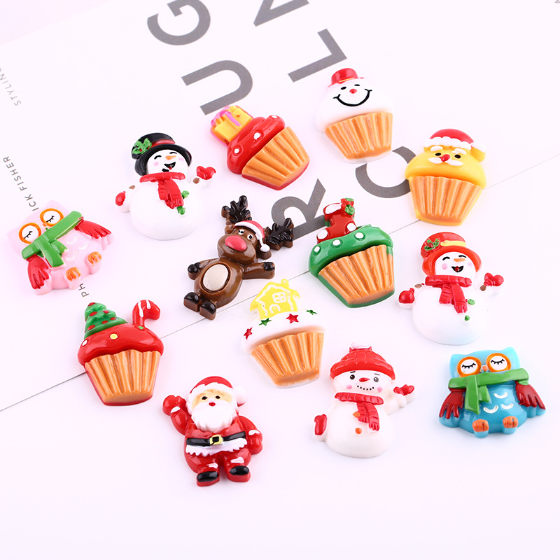 12Pcs/Lot Christmas Gift Polymer Slime Charms Lizun Modeling Clay DIY Kit Accesorios Box Toy For Children Slime Supplies Filler