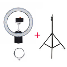 NanGuang CN-R640 V2 Photography Video Studio 640 LED Continuous Macro Ring Light 5600K Day Lighting + 2M Light Stand