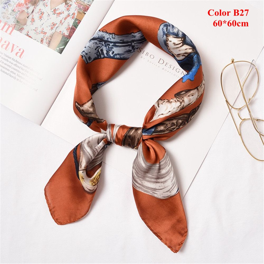 aeac0ef0179 Silk scarf women 50*50 The new 2017 small squares Joker decorative ...