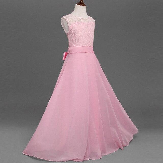Niñas largo vestido elegante adolescente Rosa fiesta de cumpleaños ...