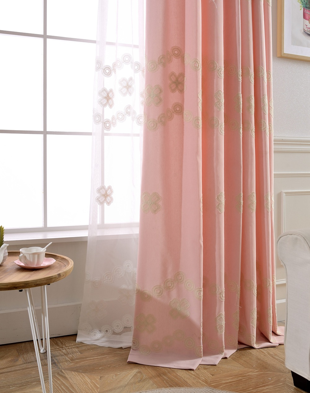 Acquista all'ingrosso Online rosa tende per camera da letto da ...
