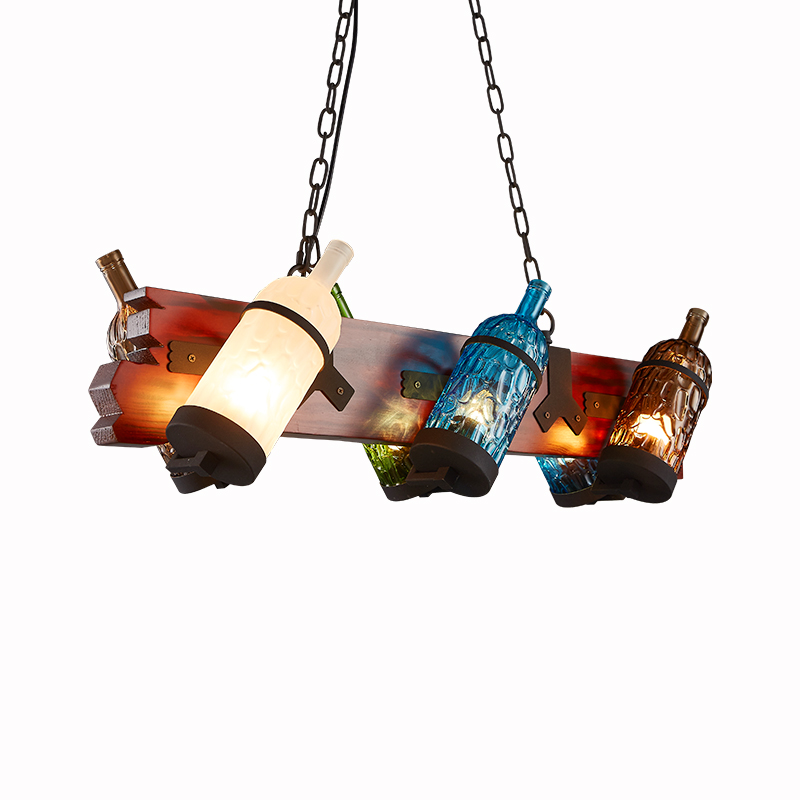 LOFT American garden Pendant Lights bar network coffee shop retro lamp fashion personality restaurant art bottle lamps LU825453 цена и фото