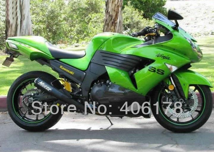 Горячие продаж, 06 07 08 09 10 11 ZX в 14Р zx14 тела для Кавасаки ниндзя ZX14R 2006-2011 зеленый мотоцикл Обтекатели (литье под давлением)