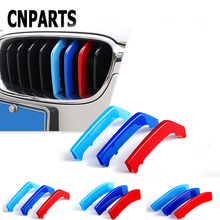 цены CNPARTS For BMW 1 7 Series F20 F21 F52 Z4 F01 G11 G12 3D Car Front Grille Trim Sport Strips Cover M Power Performance Stickers