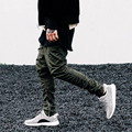 2016 Spring&autumn Mens Pants Side Zipper Men Slim Fear Of God Yeezy Boost Casual Kanye West Trousers Elastic Harem Pant