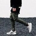 2016 primavera y otoño para hombre pantalones hombres cremallera lateral delgada miedo de dios Yeezy Boost ocasional Kanye West pantalón elástico pantalones Harem Pant