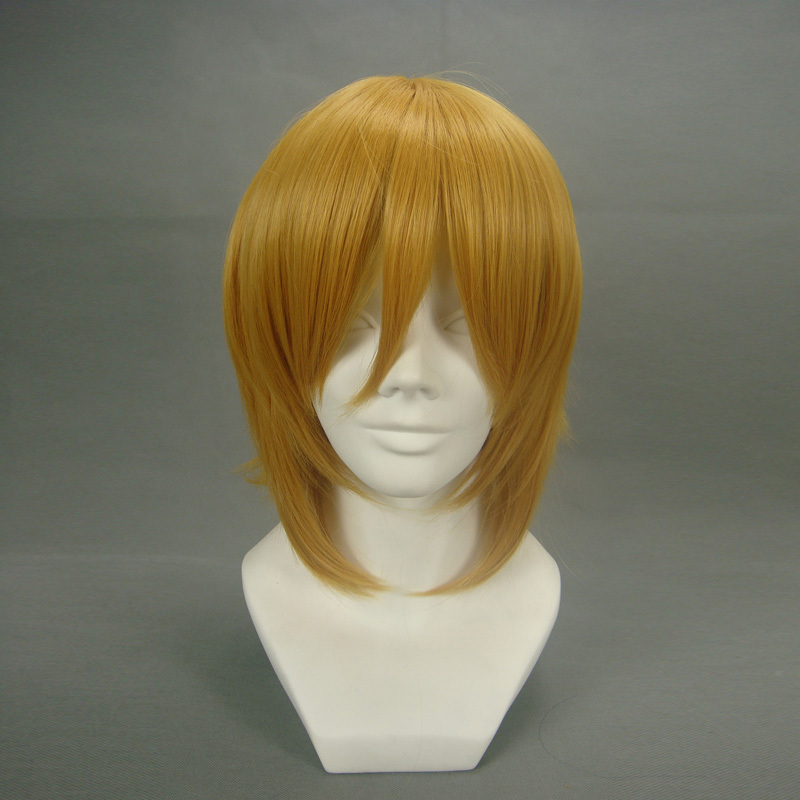HITMAN REBORN! Cosplay Wigs Dino Cavallone Anime Wigs Heat Resistant Synthetic Hair Halloween Carnival Party Wigs + Wig Cap