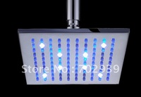 Free shipping brass square led shower head 20X20CM
