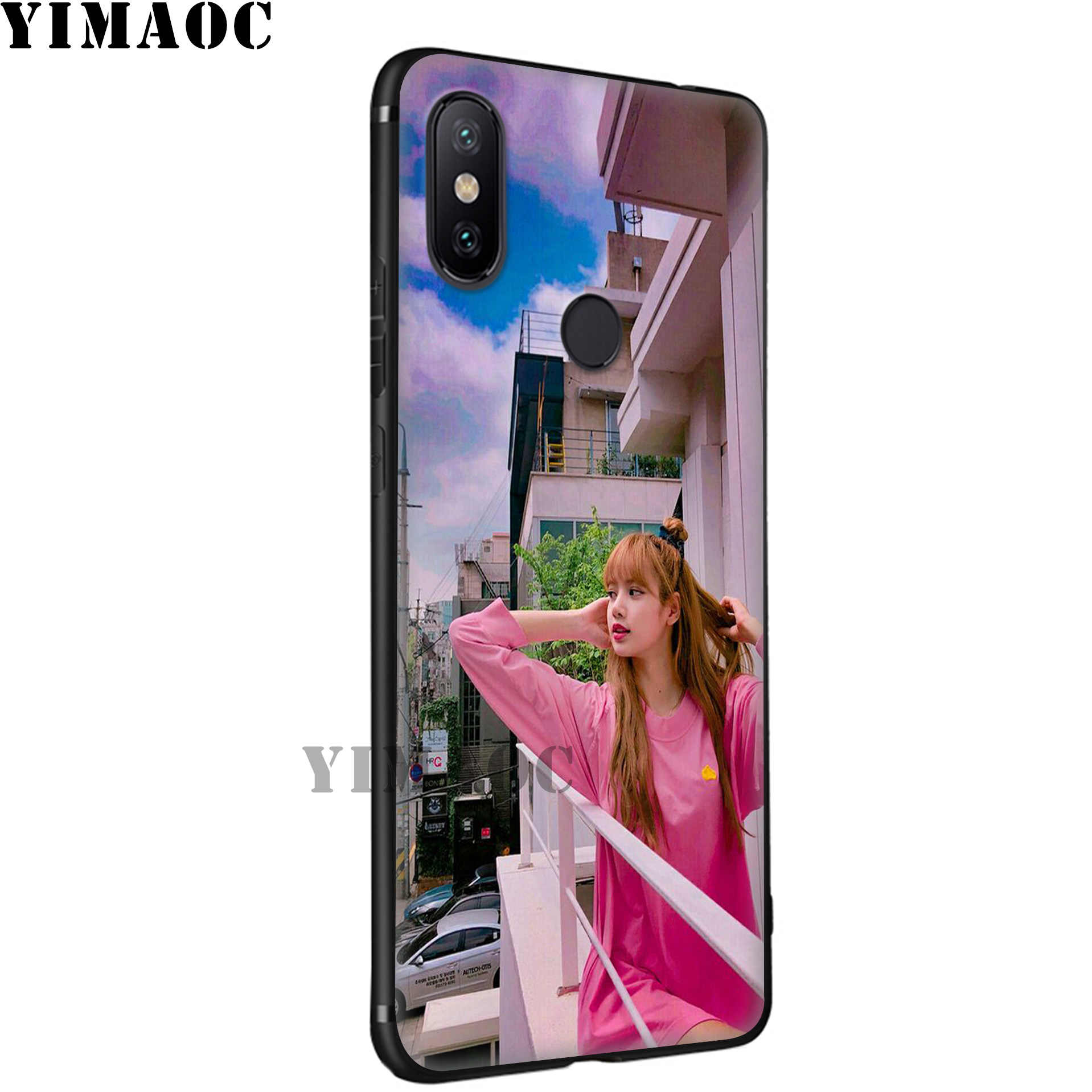 Yimaoc Blackpink Hitam Berwarna Merah Muda Lembut Case untuk Xiao Mi Mi 9T 9 8 Se 6 Max 3 A1 A2 lite Mi A1 Mi A2 CC9E CC9 6X 5X Pocophone F1