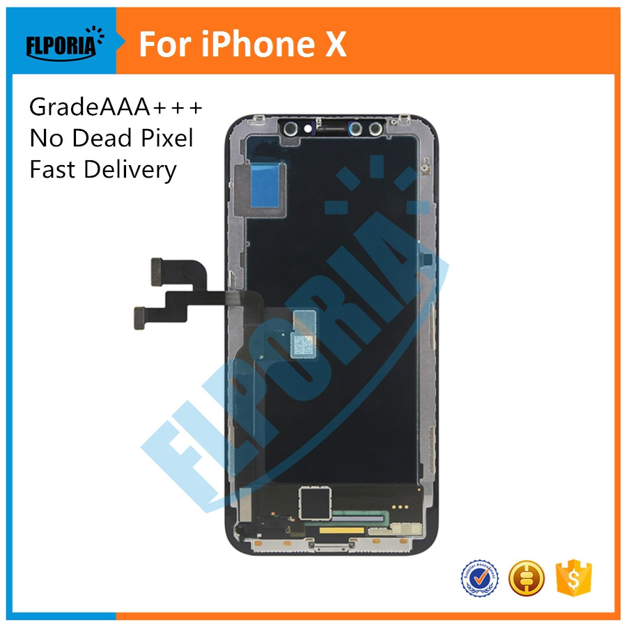 With Tools Grade AAA+++ For iPhone X LCD Display Touch Screen Digitizer Assembly For iPhone X Touch Screen DigitizerWith Tools Grade AAA+++ For iPhone X LCD Display Touch Screen Digitizer Assembly For iPhone X Touch Screen Digitizer