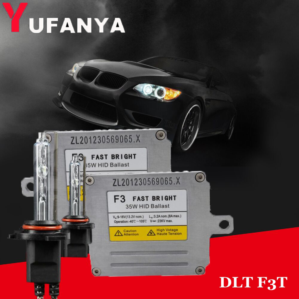 Fast Bright 35W Ballast DLT F3T for hid xenon kit car headlight bulbs H1 H3 H7 9005 9006 D2H bi xenon Reactor Power Ignition box