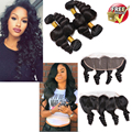 Malibu Dollface Recommend Pre Plucked Brazilian Loose Wave Lace Frontal Closure 13x4 Ear to Ear Lace Frontal with baby hair