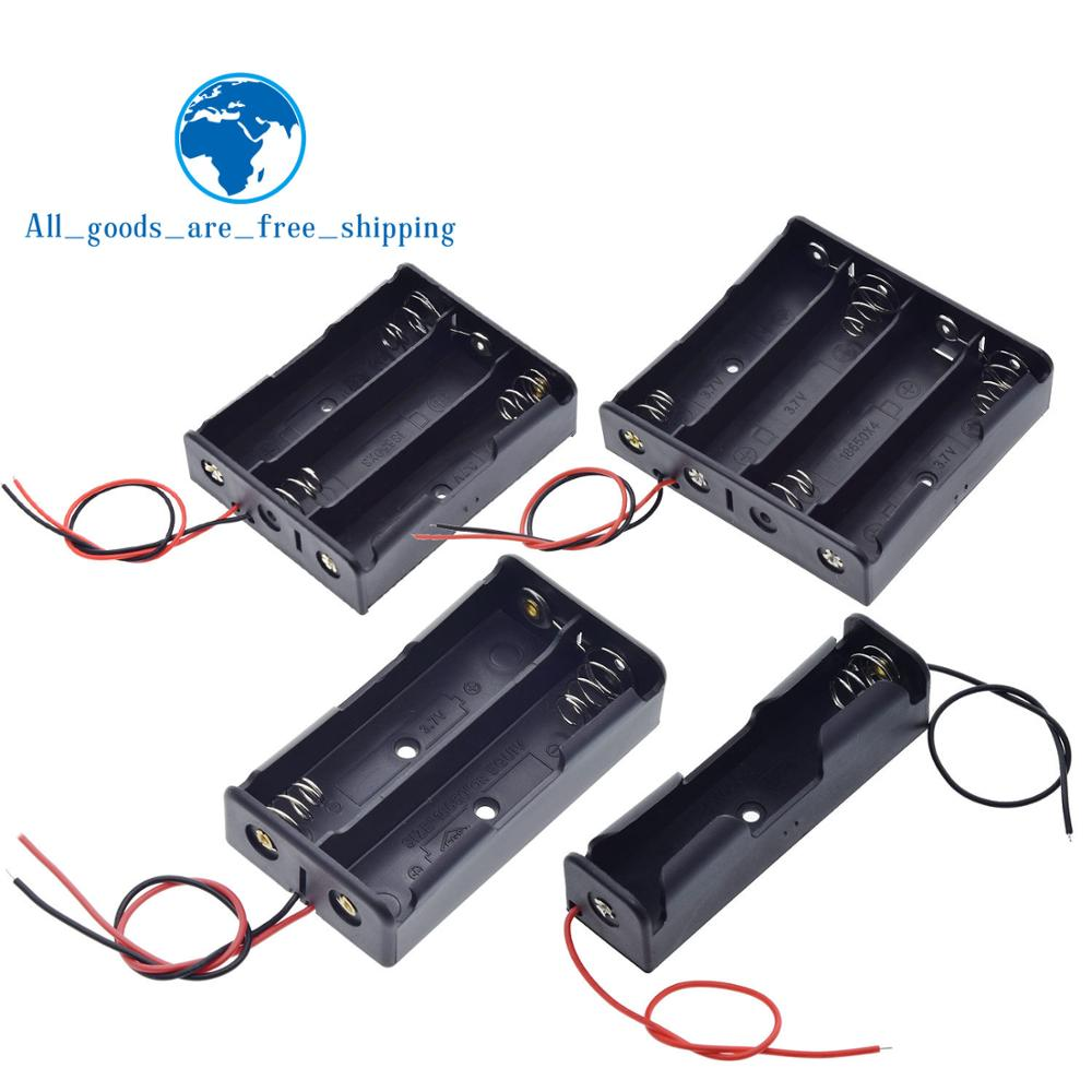 5 PCS High Quality 18650 Battery Storage Clip Holder Box Case with 15cm Lead
