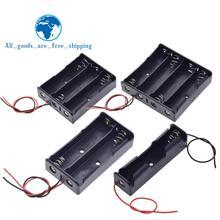 Черный пластик 1x2x3x4x18650 Коробка для хранения батареи Чехол 1 2 3 4 Слот способ DIY зажим для батарей держатель Контейнер с проволокой свинцовая шпилька