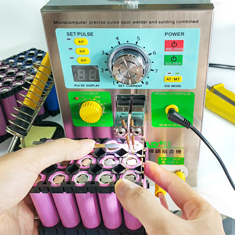 Tools : SUNKKO 3 2KW 709AD  spot welder machine pulse spot welding for 18650 battery pack Production with welding pen and soldering iron
