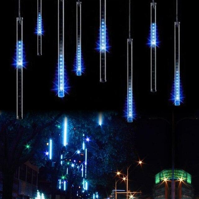 ЕС plug 8 tubes Rain Drop/Сосулька Падает Снег Строка ПРИВЕЛО украшения Рождественской елки Каскадных Метеор Свет Украшения