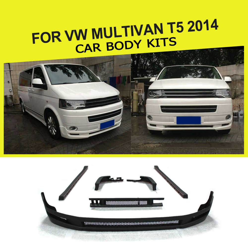 Estilo Do Carro PU Auto Jogos Do Corpo Do Carro Estilo Do Carro Kit Amortecedor Para VW Multivan T5 2014