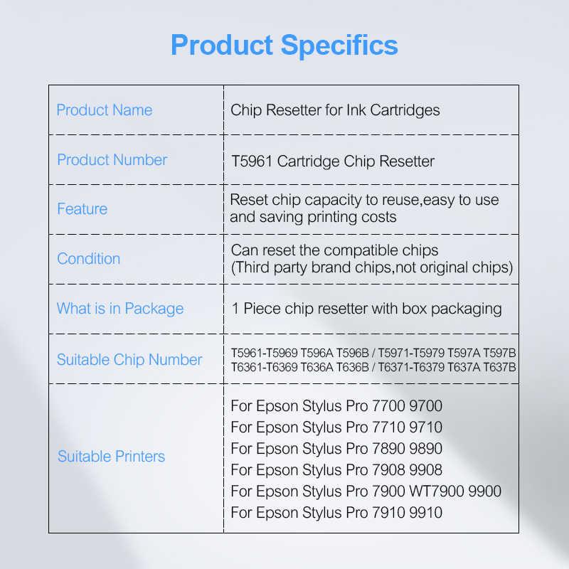 Tinta Kartrid Chip Resetter untuk Epson Stylus Pro 7700 9700 7710 9710 7890 9890 7908 9908 7900 9900 7910 9910 kartrid Resetter