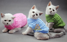 NEW Dog Cat Sweater Spagetti Color Warm Auntumn Winter Pet Jumper Clothes For Small Pets