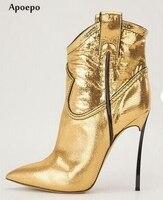 Apoepoร้อนขายทองข้อเท้าหนังรอง